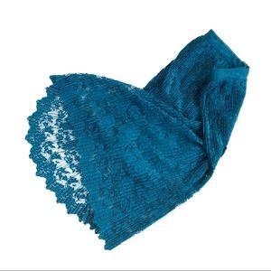 "Romeo & Juliet ""Gemma"" Pleated Lace Midi Skirt, S"